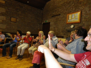 Participants on the Cornish comedy course with Kernow King